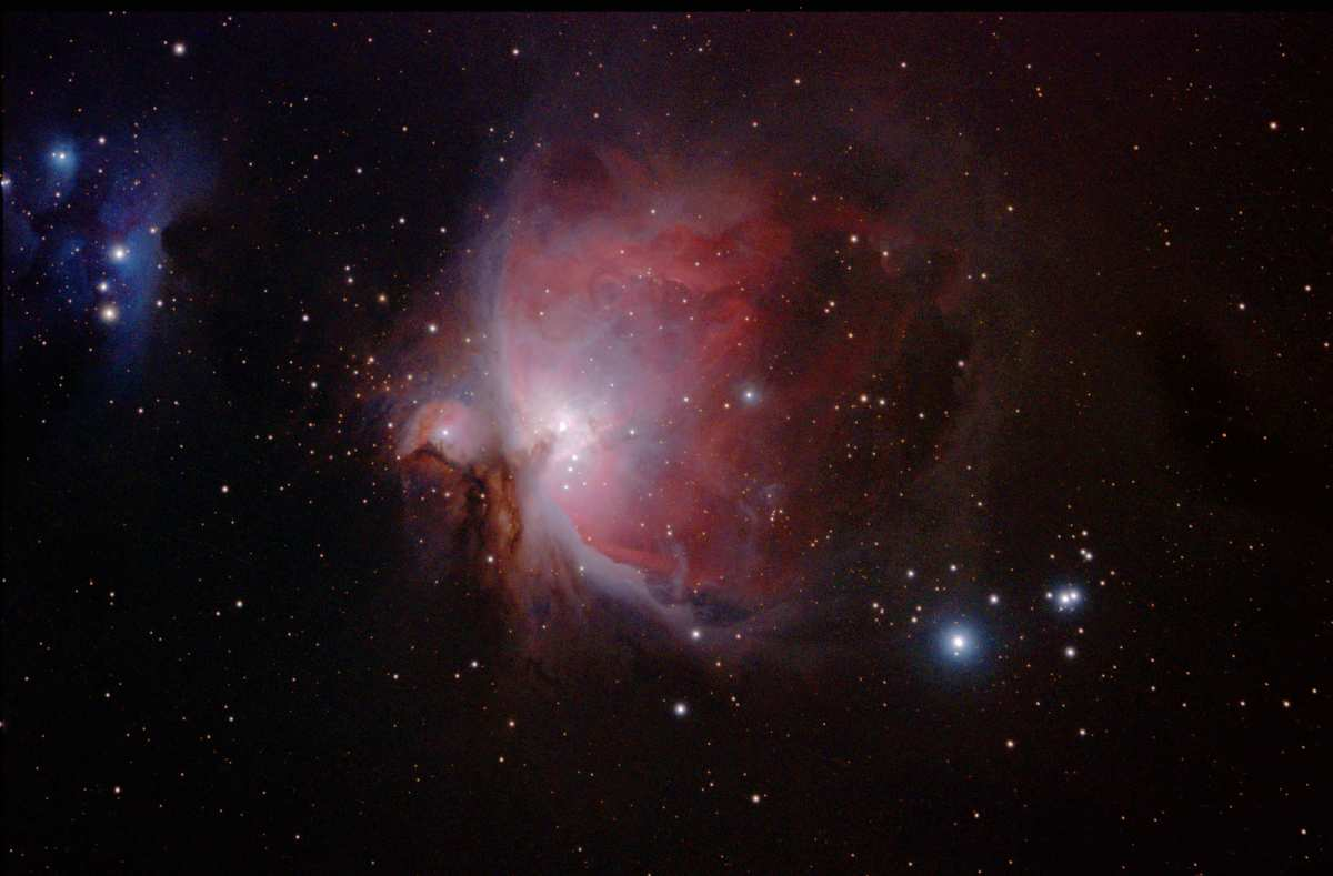 Orion Nebula in Colour